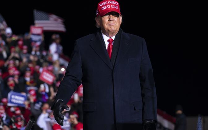Donald Trump kampaaniakohtumisel Kenoshas Wisconsinis.