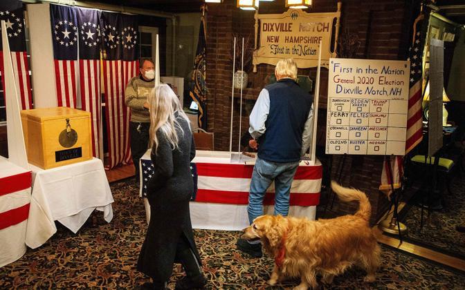 USA presidendivalimised algasid New Hampshire osariigis asuvas 12 elanikuga Dixville Notchi külas.