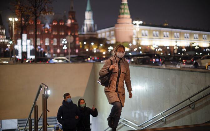 Moskva tänavapilt pandeemia ajal.