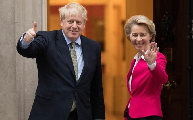 Suurbritannia peaminister Boris Johnson ja Euroopa Komisjoni president Ursula von der Leyen.