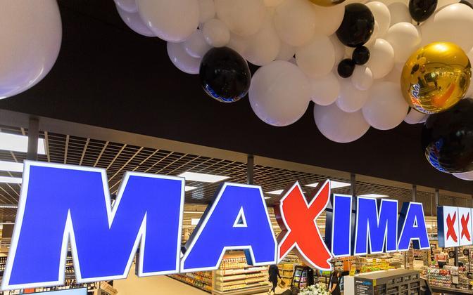 Maxima store signage in Estonia.