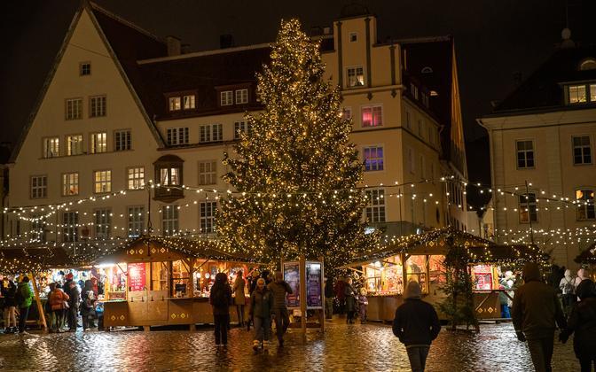 Tallinn's 2020 Christmas market opened in the Old Town on Friday, November 27.