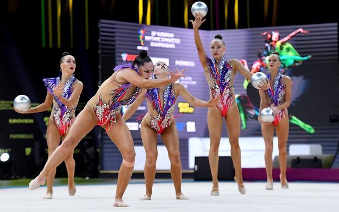 Эстонские гимнастки на чемпионате Европы заняли 4-е место.
