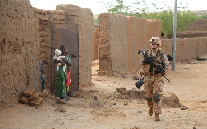 EDF member on patrol in Gao, Mali, last year.
