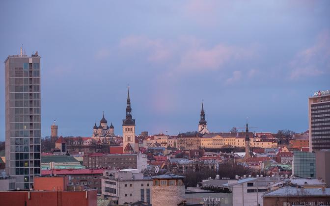Tallinn skyline in the morning.