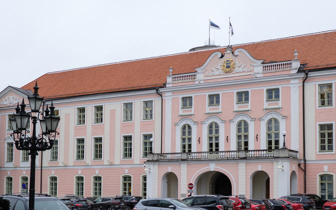 Toompea Castle, seat of the Riigikogu in Tallinn.