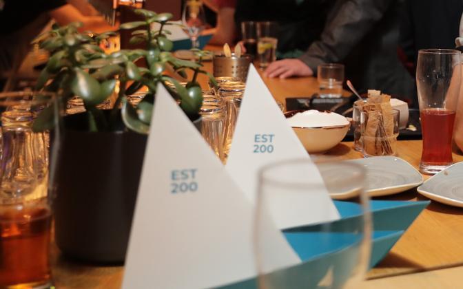 Estonia 200 marketing paraphernalia.
