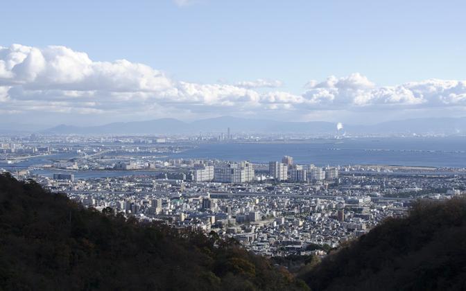 Vaade Osaka lahele.