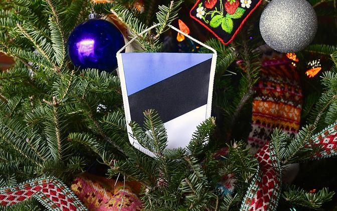 Tree at Estonian Christmas / Rahvajõulupuu 2019.
