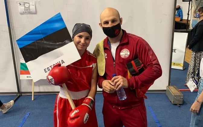 Diana Gorišnaja ja tema treener Vladimir Tšurkin.