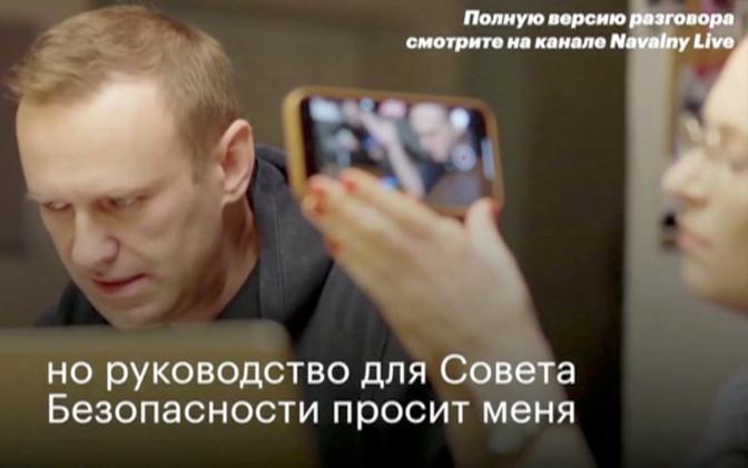 Aleksei Navalnõi FSB agendiga rääkimas