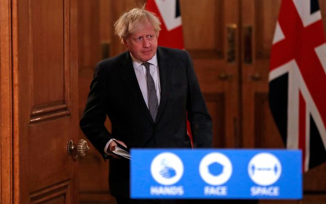 Suurbritannia peaminister koroonaviiruse teemalisel pressikonverentsil
