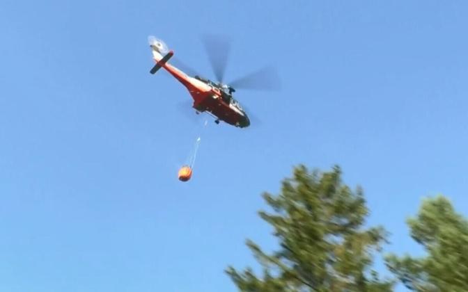 Спасательный вертолет Департамента полиции и погранохраны.