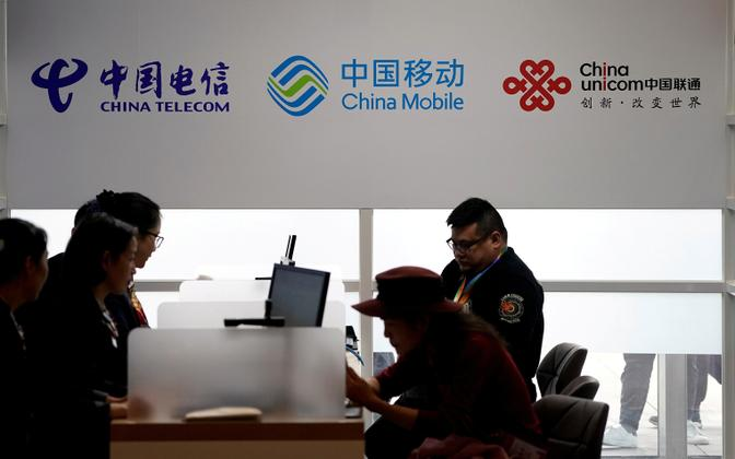 China Telecom, China Mobile ja China Unicom.
