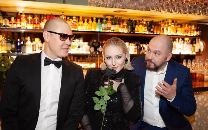 Раймонд Кальюлайд, Беатрис Небис и Юрий Новиков.