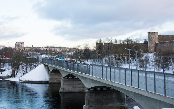 Narva River, and the Estonian-Russian border.