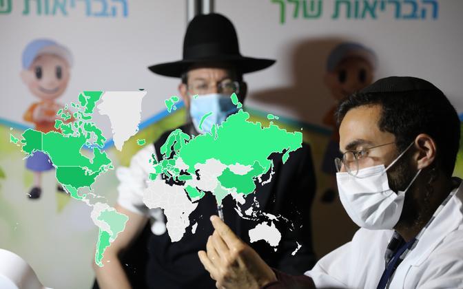 Iisrael on suutnud vaktsineerida riigi elanikkonnast enam kui 30 protsenti.