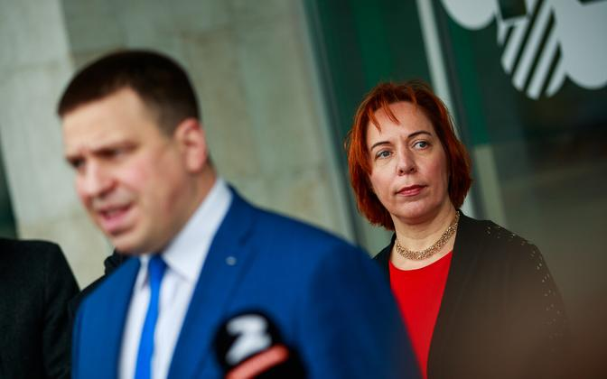 Jüri Ratas and Mailis Reps.
