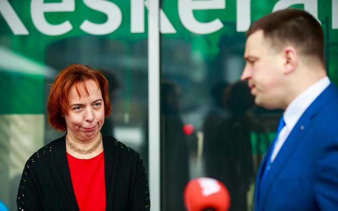 Center Party politicians Mailis Reps and Jüri Ratas.