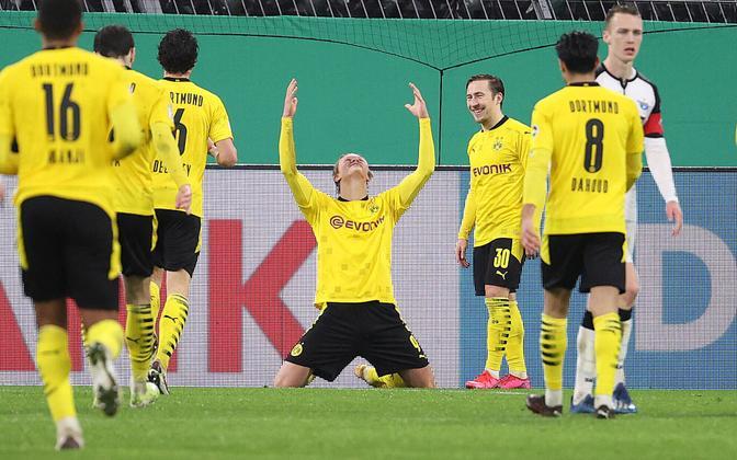 Dortmundi võiduvärava löönud Erling Braut Haaland