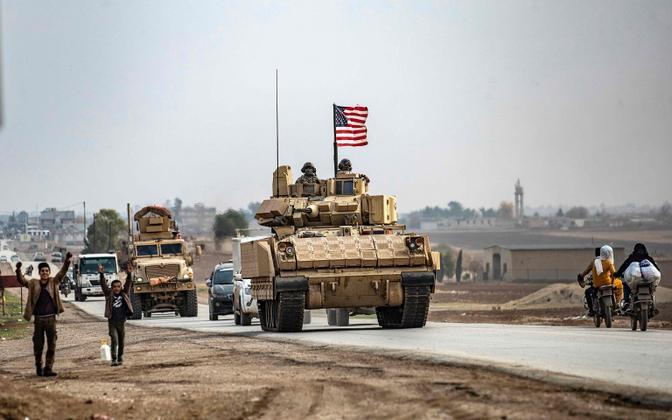 USA üksus Süüria põhjaosas Türgi piiri lähedal detsembris 2020.