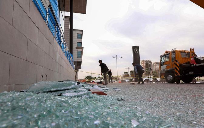 Iraagi Kurdistani pealinn Arbil pärast raketirünnakut