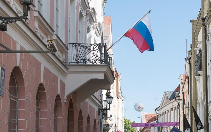 Russian Embassy on Pikk tänav in Tallinn.