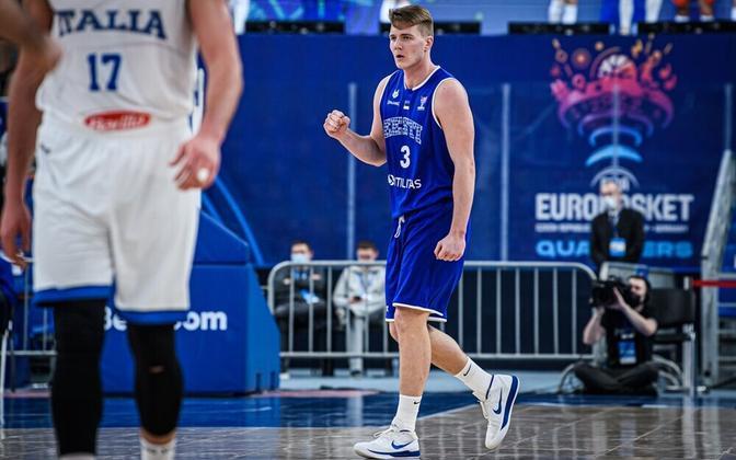 Kaspar Treier EM-valimängus Itaalia vastu