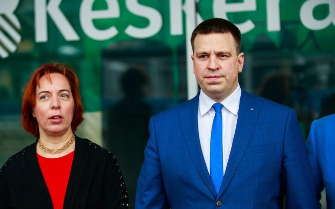 Mailis Reps and Jüri Ratas.