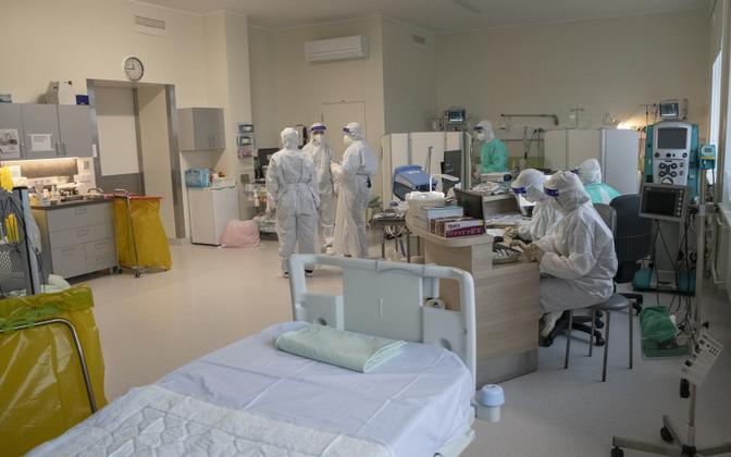 Coronavirus ward at East Tallinn Central Hospital.