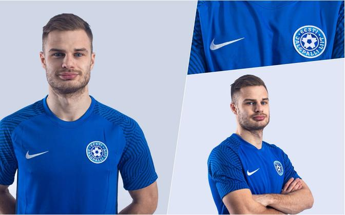 Новая модель футболки сборной Эстонии.