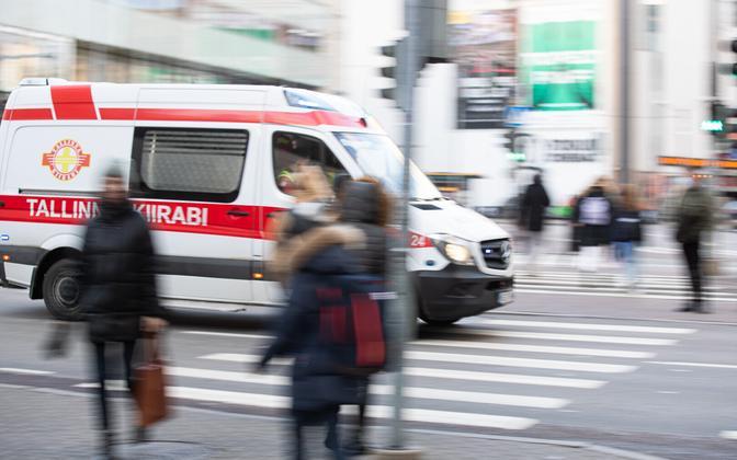A ambulance in Tallinn.