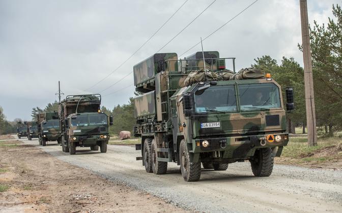 Poola rannakaitse raketiüksus õppusel Kevadtorm.
