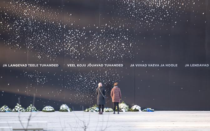 Märtsiküüditamise ohvrite mälestamine kommunismiohvrite memoriaalis