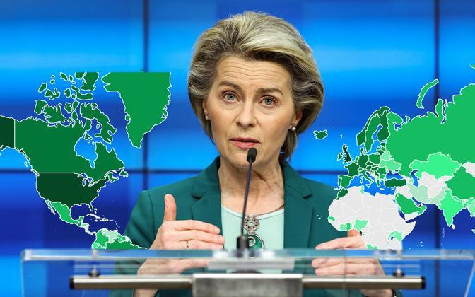 Euroopa Komisjonii president Ursula von der Leyen .