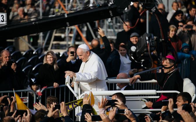 Paavst 2018. aastal visiidil Eestis.