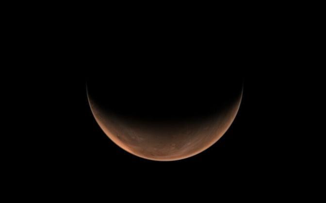 Tianwen-1 tehtud panoraamfoto Marsist.