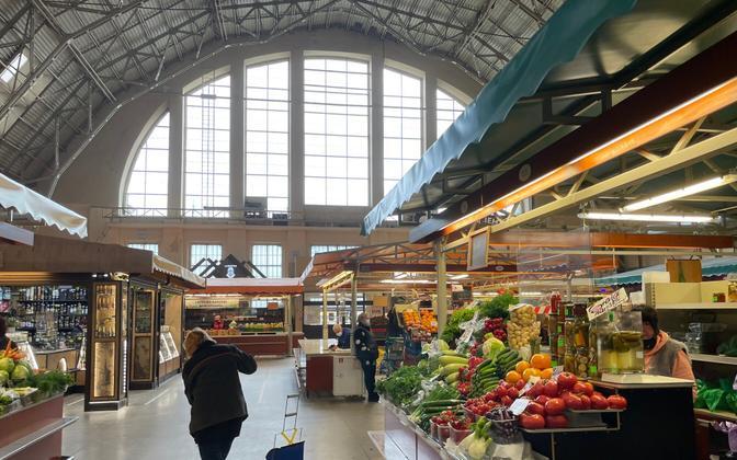 Рижский центральный рынок.