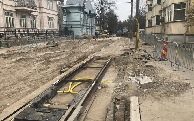 Poska tänav on April 12, 2021.
