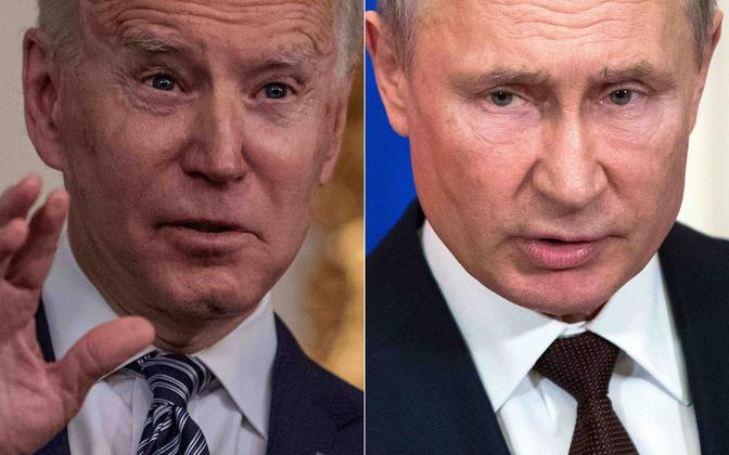 Joe Biden ja Vladimir Putin.