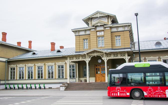 Тартуский железнодорожный вокзал.