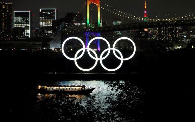 Olümpiasümboolika Tokyos.