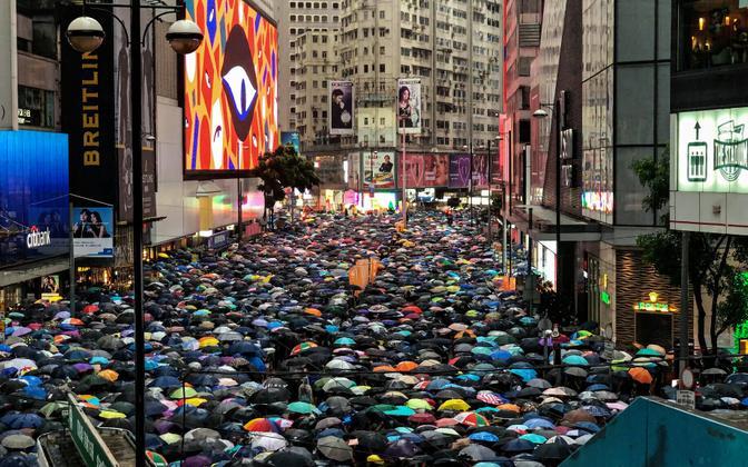 Протесты в Гонконге в 2019 году.
