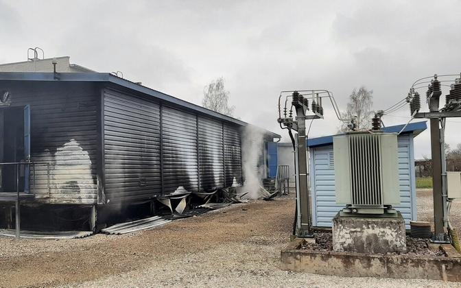 A substation fire left thousands of households in Jõgeva without power.