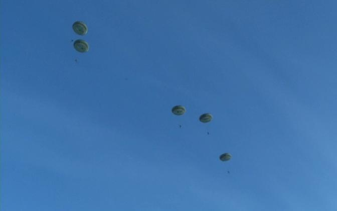 US Airborne troops on a jump.