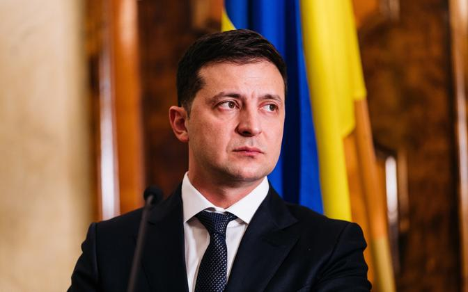 Ukraina president Volodõmõr Zelenskõi 2019. aastal Eesti visiidil.