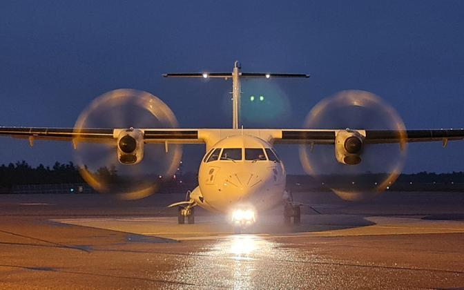 A SAAB 2000 aircraft, operated by NyxAir.