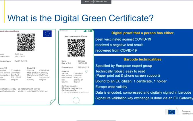 Европейский ковид-сертификат.