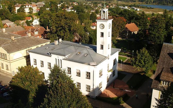 Viljandi Town Hall and clock tower.