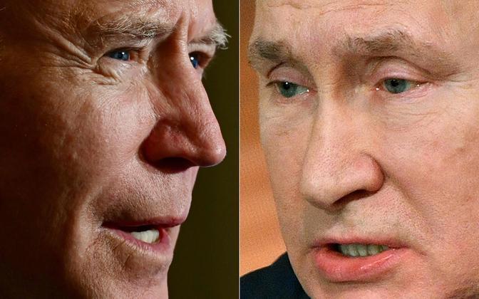 Джо Байден и Владимир Путин.